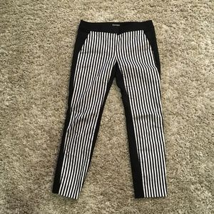 Express Striped Columnist Ankle Pants Size 2